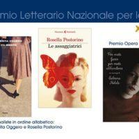 Terna finalista premio donna scrittrice