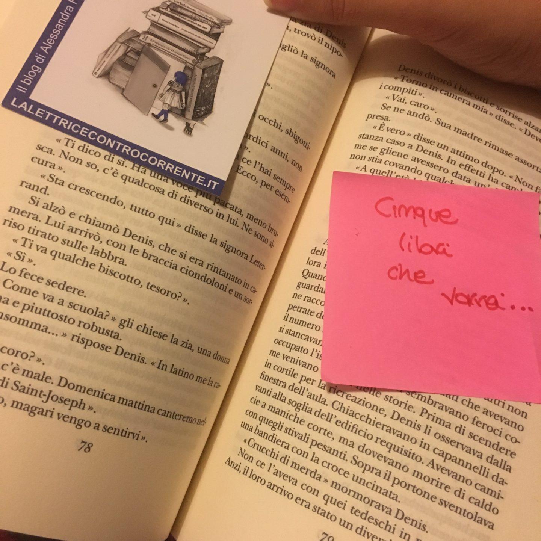 Cinque libri in cima alla  lista dei desideri