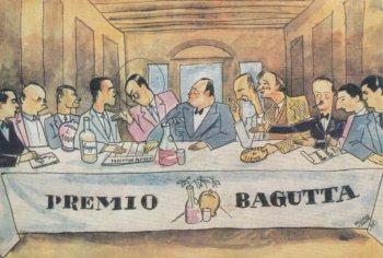Vignetta d'epoca sul Premio Bagutta