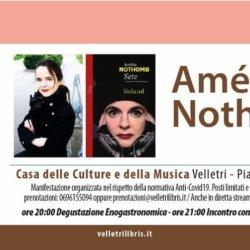 Amélie Nothomb ospite a Velletri…