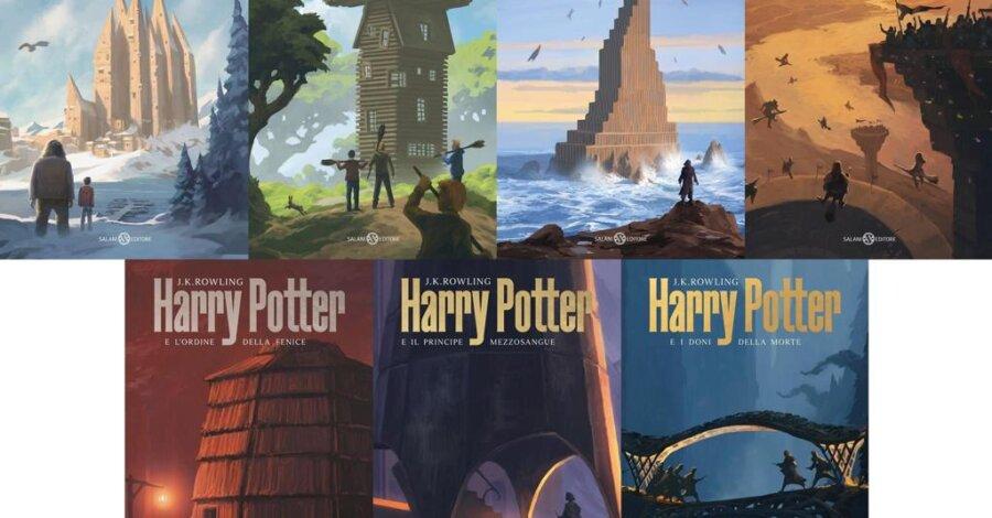 Le 7 cover Harry Potter De Lucchi